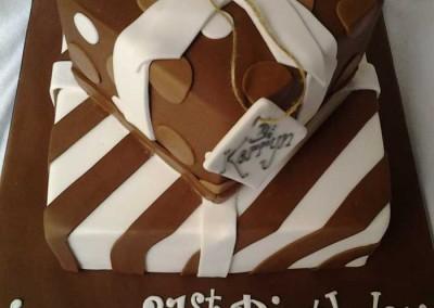 2 Tier Chocolate Present Cake