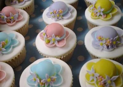 Bonnet Pastel Cupcakes