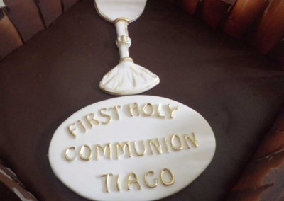 First Holy Communion Chocolate Cake