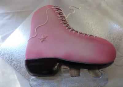 Ice Skating Boot Cake