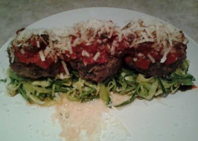 Italian Meatballs and Courgette Spaghetti