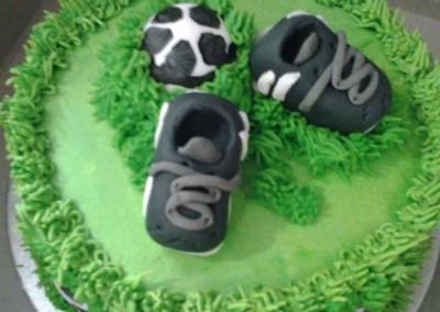 Mini Soccer Boot Cake