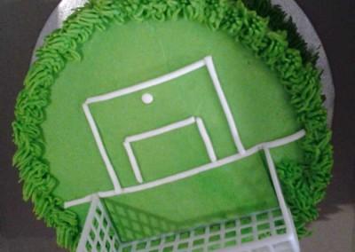 Mini Soccer Field Cake