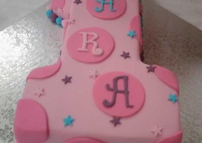 Number 1 Polka Dot Cake