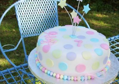 Pastel Polka Dot Cake