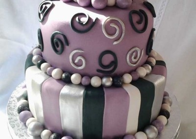 Purple, Silver and Black Cake 1