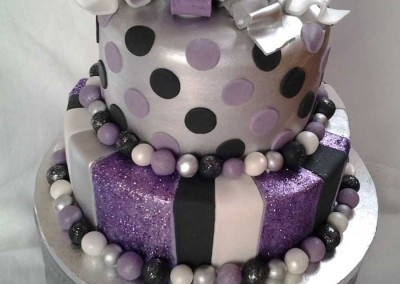 Purple, Silver and Black Cake 2