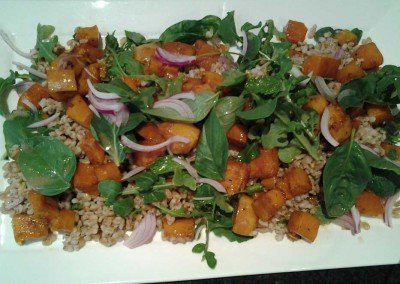 Roasted Butternut and Rocket Salad