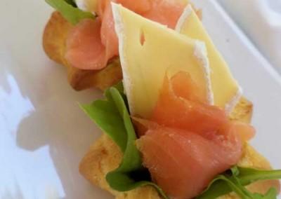 Smoked Salmon and Camembert Profiteroles