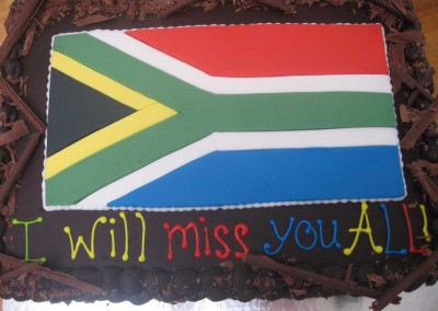 South African Flag Chocolate Cake