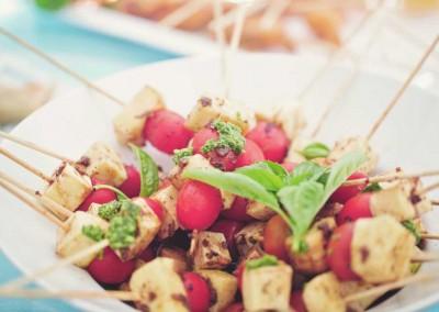 Tomato and Mozarella Kebabs