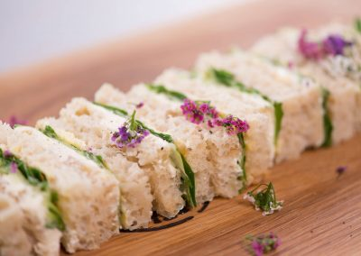Finger Sandwiches Cream Cheese Rocket Cucumber