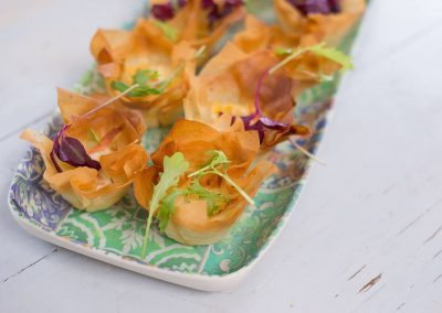 Phyllo Cups Smoked Salmon and Cream Cheese
