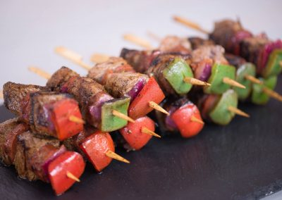 Rump and Chorizo Kebabs