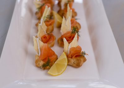 Smoked Salmon & Camembert Profiteroles