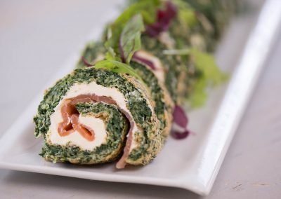Spinach Roulade with Smoked Salmon and Cream Cheese